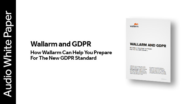 Audio White Paper: Wallarm and GDPR